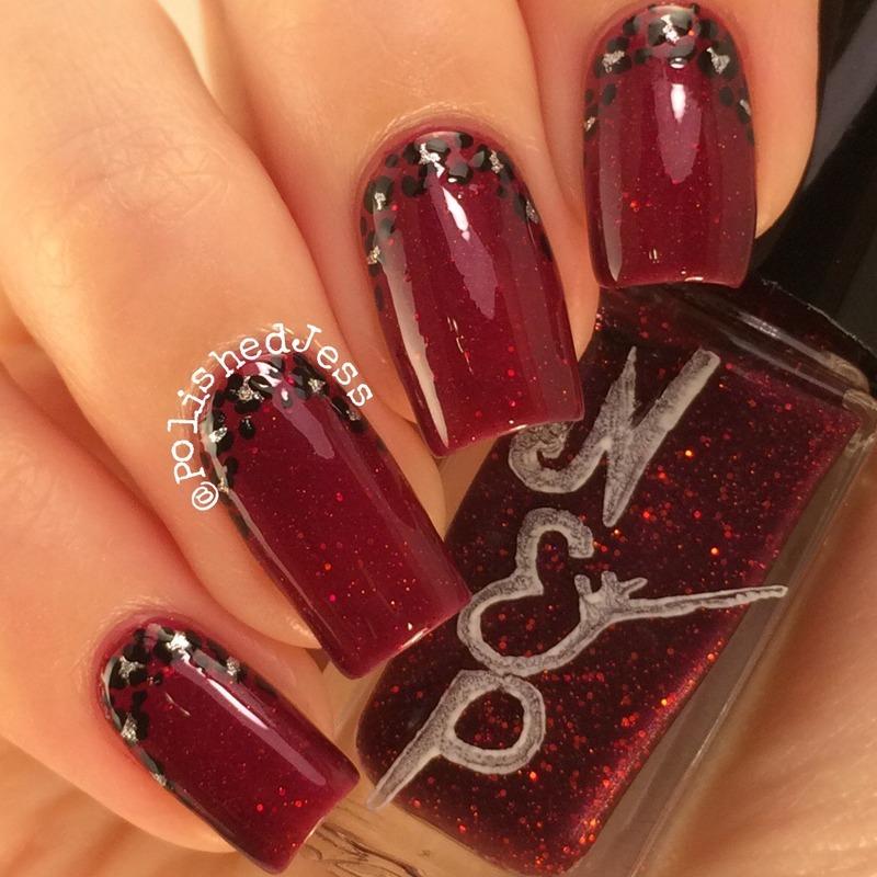 Micro Leopard Ruffian nail art by PolishedJess