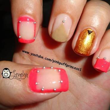 Fall Negative Space Nail Art nail art by Leneha Junsu