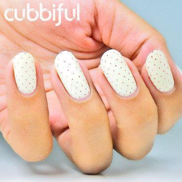 Polka Dot Nails nail art by Cubbiful