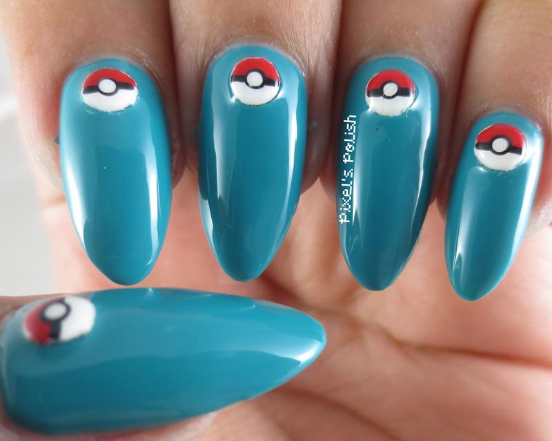 Poké Balls! nail art by Pixel's Polish