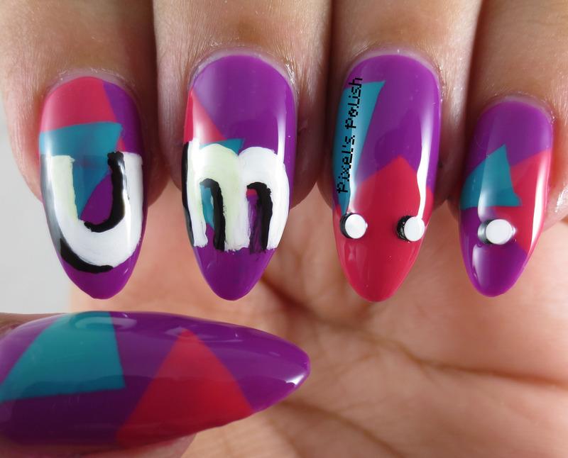 Um... nail art by Pixel's Polish