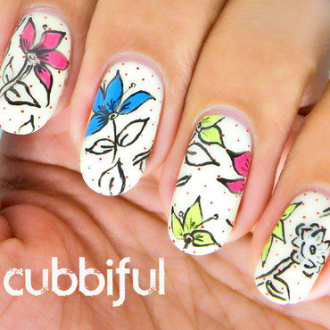 Vintage pop art nails thumb370f