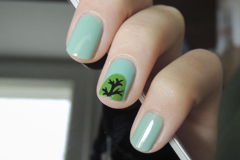Tree nail art by Magdalena