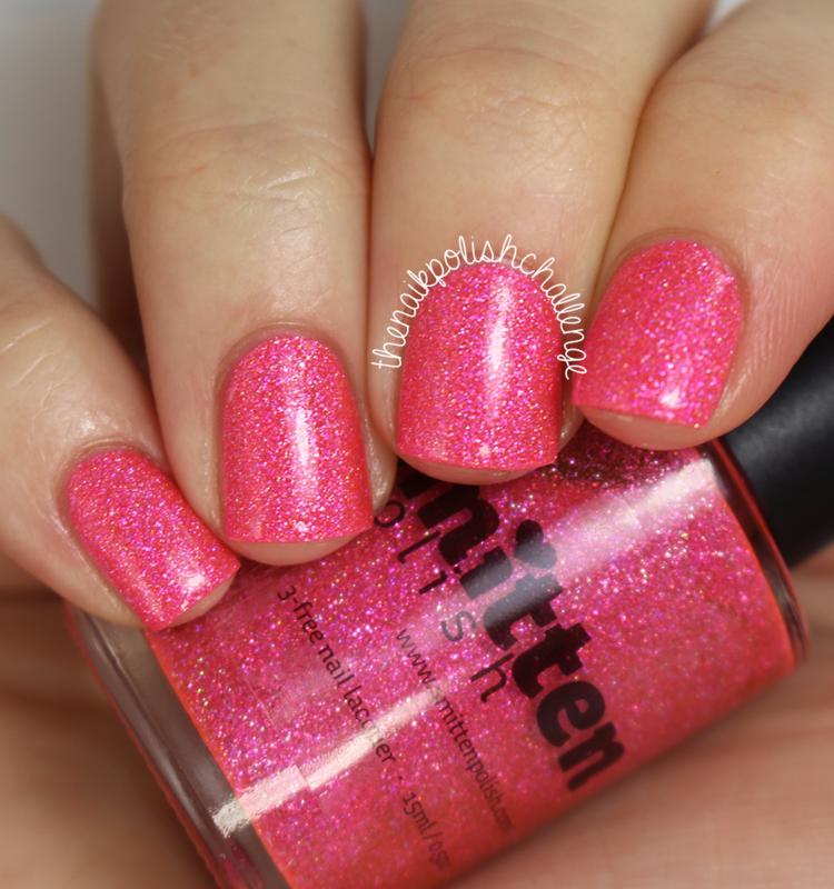 Smitten Polish In October We Wear Pink Swatch by Kelli Dobrin