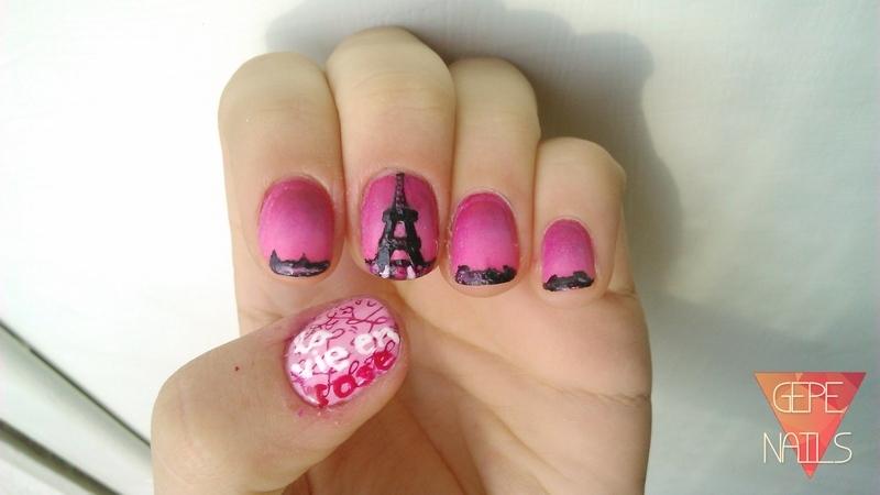 LA VIE EN ROSE nail art by GepeNails