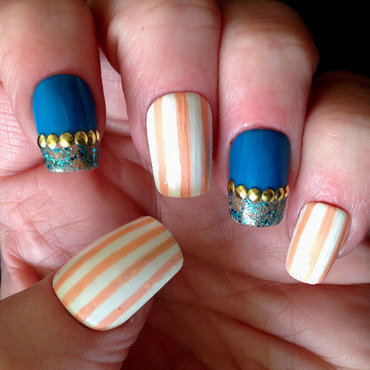 Stripes or Not nail art by Celtess