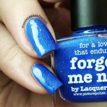 piCture pOlish Forget Me Not Swatch by sevenseasofpolish