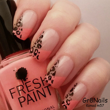 french leopard  nail art by Gr8Nails