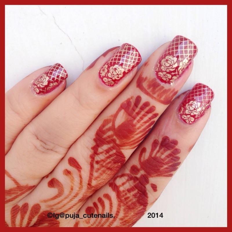 Karwachauth nails nail art by Puja Malhotra
