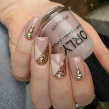 Gold Tape Manicure nail art by Ann-Kristin