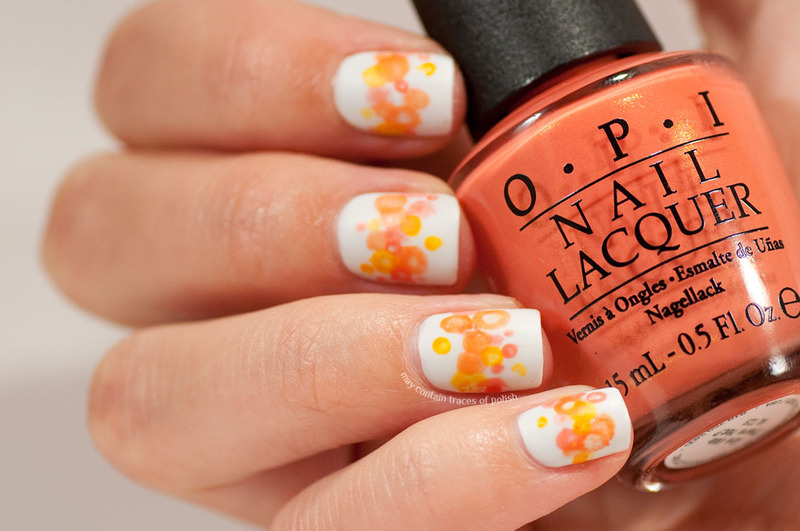 Orange Nimbus Nail Art nail art by Zara TracesOfPolish