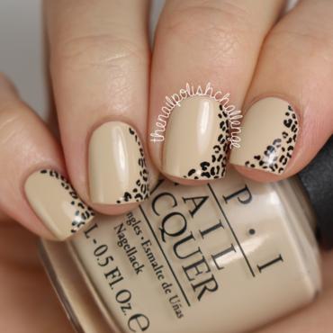 Nude Leopard Print Nail Art nail art by Kelli Dobrin