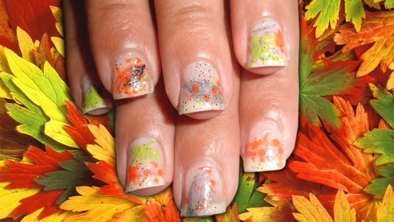 Easy Fall Foliage Nail Art nail art by madjennsy Nail Art