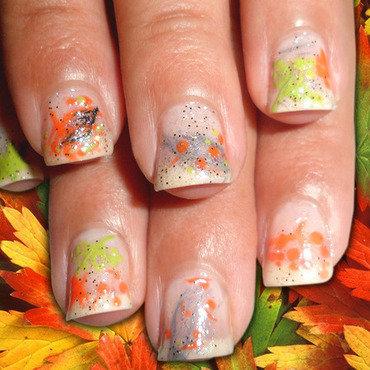 Easy Fall Foliage Nail Art nail art by madjennsy Nail Art