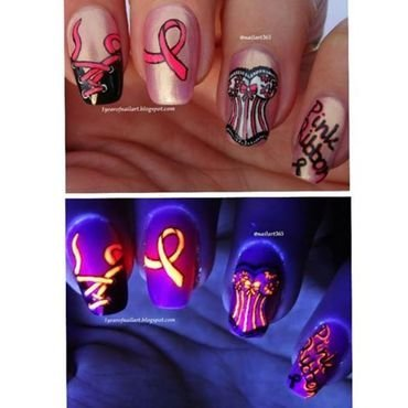 October is Breast Cancer Awareness month! nail art by Margriet Sijperda