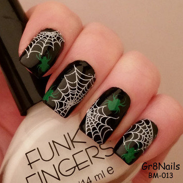 Spiders nail art by Gr8Nails