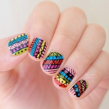 Pattern Crazy nail art by Isabelle Y