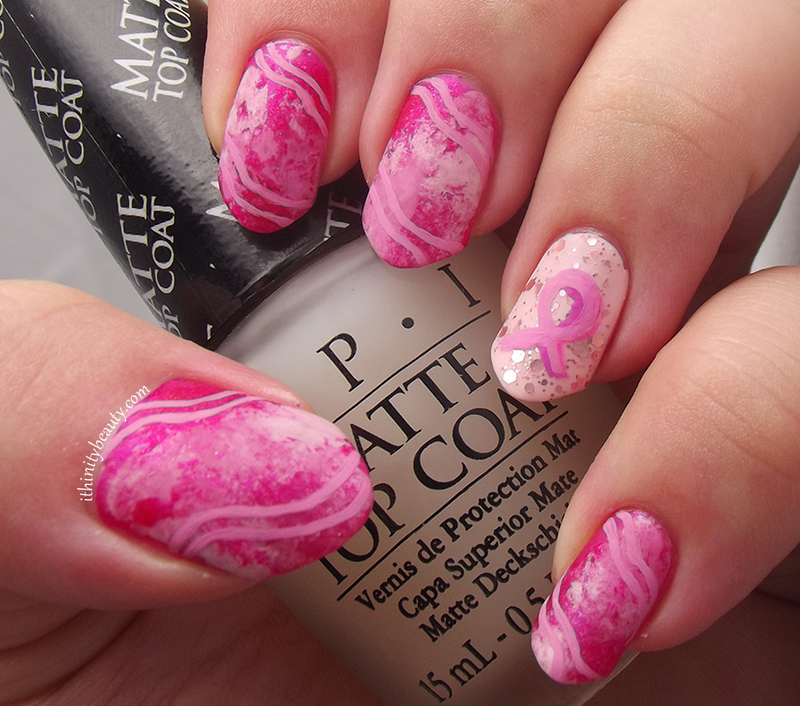 Breast Cancer Awareness Nails nail art by Ithfifi Williams