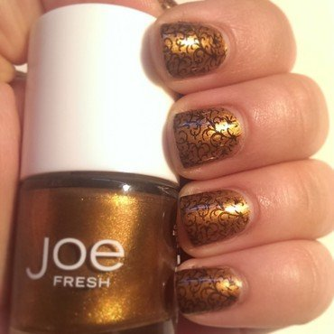 Fall Bronze nail art by Steph
