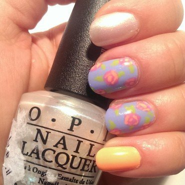 Floral Mix & Match nail art by Steph