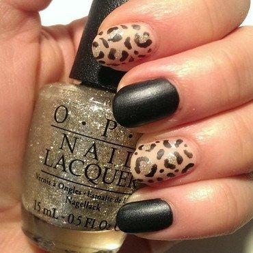 Matte Leopard  nail art by Steph