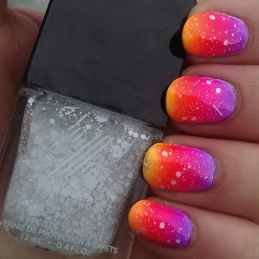 Neon Sunset Ombre nail art by Steph