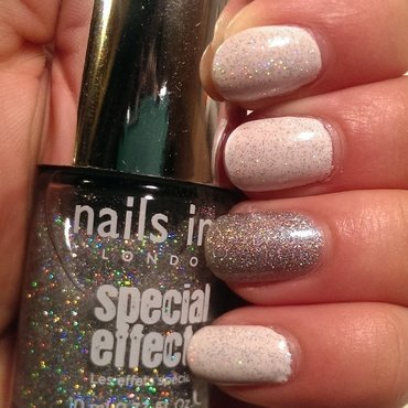 White Holo Party nail art by Steph