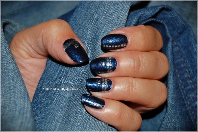 Very me - denim nail art by Oana Chiciu