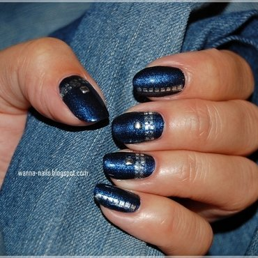 Very me - denim nail art by Oana Chiciu