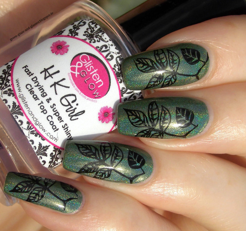 Autumn Leaf Stamping nail art by greeench