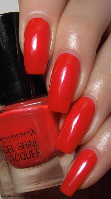 Max Factor 25 Patent Poppy Swatch by greeench