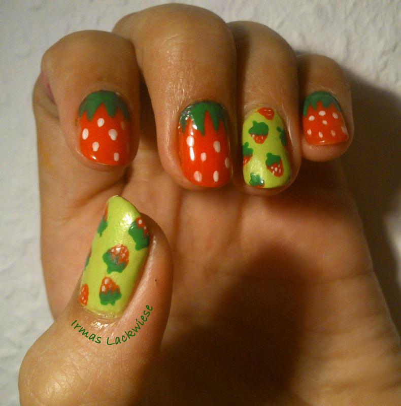 strawberrys nail art by irma