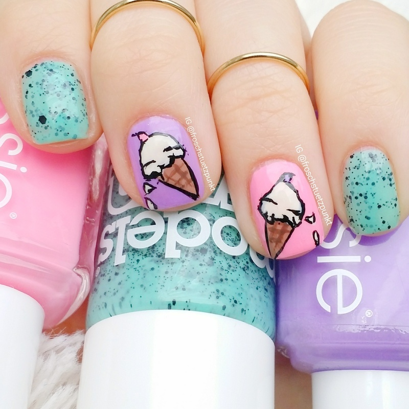 Yummy Ice Cream nail art by froschstuetzpunkt