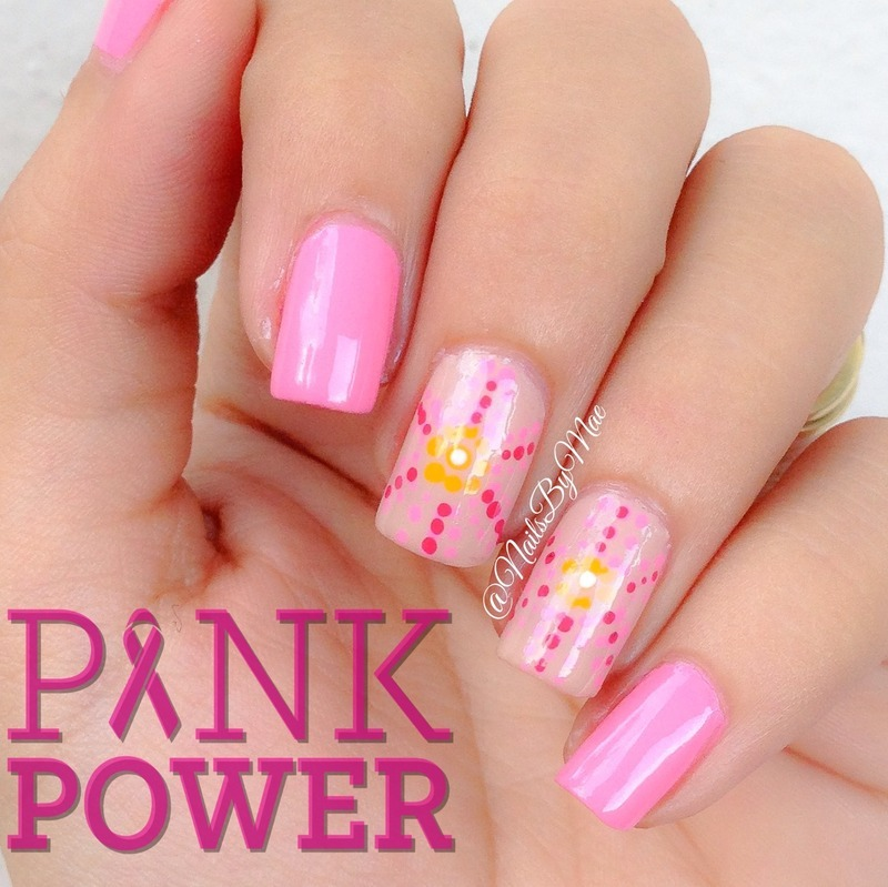 Pink Dotticure nail art by Sheily (NailsByMae)
