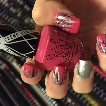 Gwen Stefani Collection Brushstrokes 2 nail art by Dana  Nicole