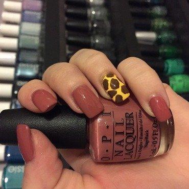 Giraffe Accent Nail nail art by Dana  Nicole