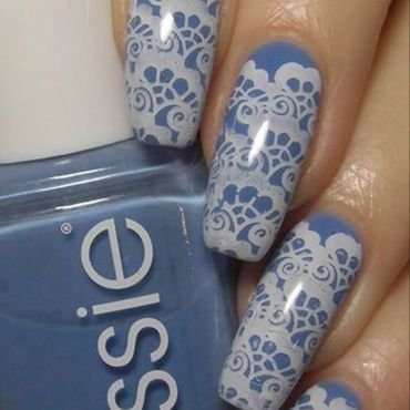 Lace Stamping nail art by greeench