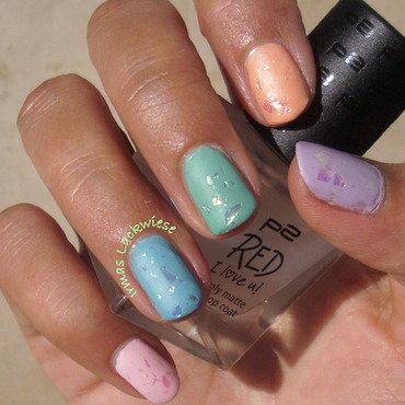 matte pastells nail art by irma