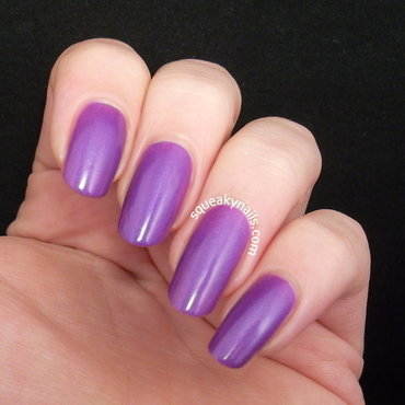 Canvas Lacquer Orchids Swatch by Squeaky  Nails