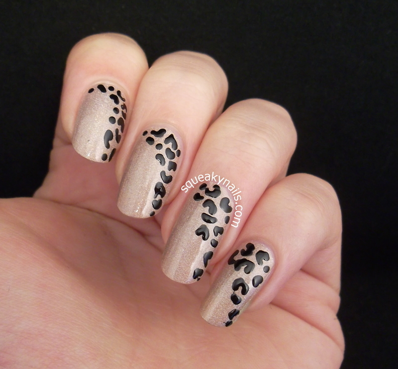 Simple Side Leopard nail art by Squeaky Nails - Nailpolis: Museum of ...