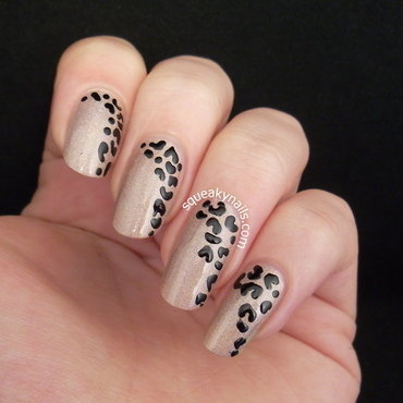 Simple Side Leopard nail art by Squeaky  Nails