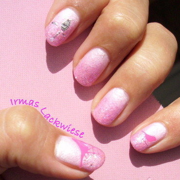 pink gradient nail art by irma