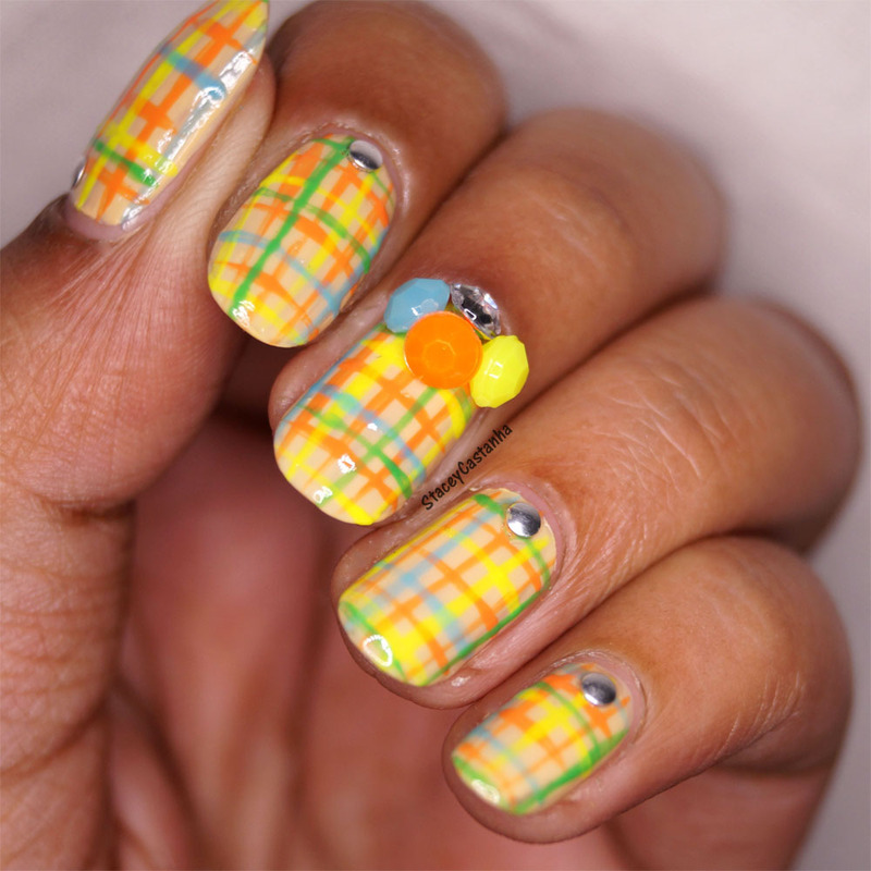 Fall Tweed with Bling nail art by Stacey  Castanha