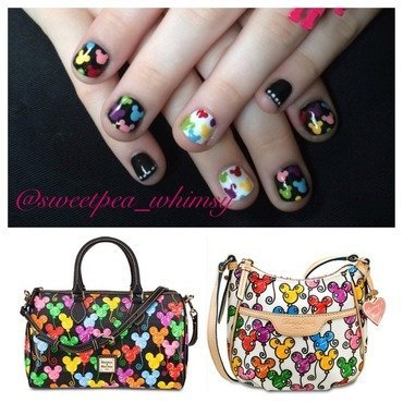 D&B Balloon Mickey Mouse Inspired nail art by SweetPea_Whimsy