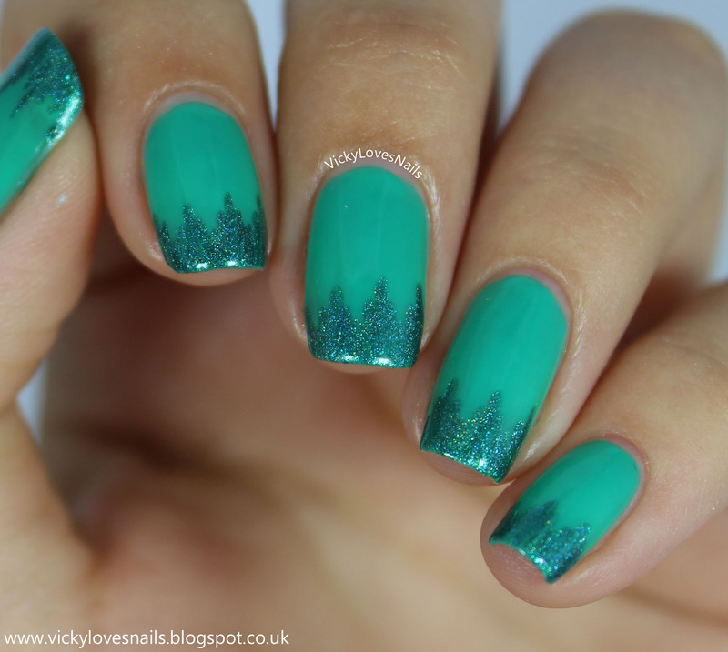 Funky French Tip nail art by Vicky Standage