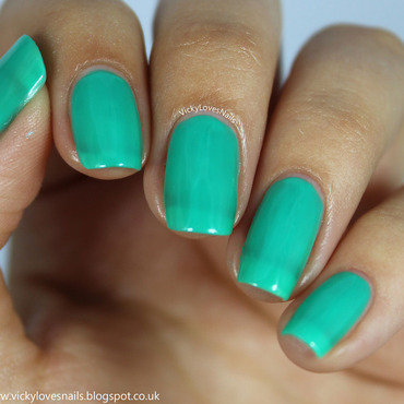 China Glaze Keepin' it teal Swatch by Vicky Standage