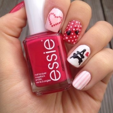 Love is in the air nail art by mademoisellenicole