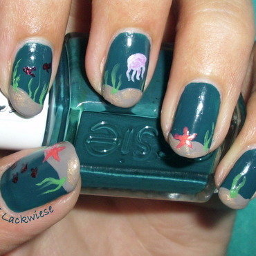 under the sea nail art by irma