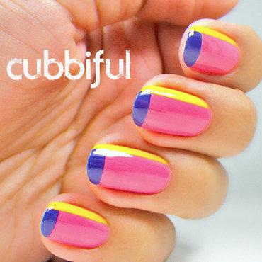 Colourful Color Block Nails nail art by Cubbiful