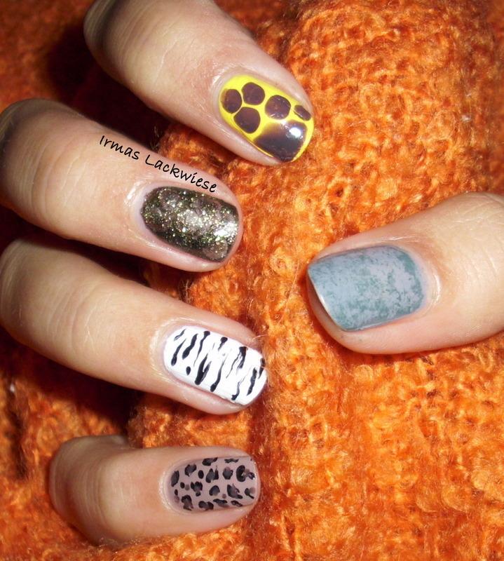 safari nail art by irma
